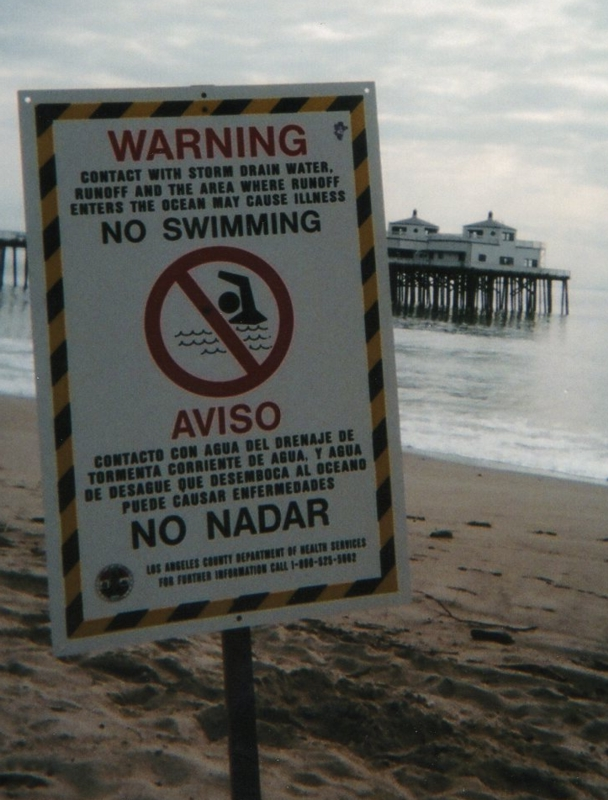 No Swimming in the ocean