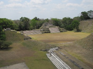Altun Ha from the top of sgt