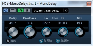 In a mess vocal delay